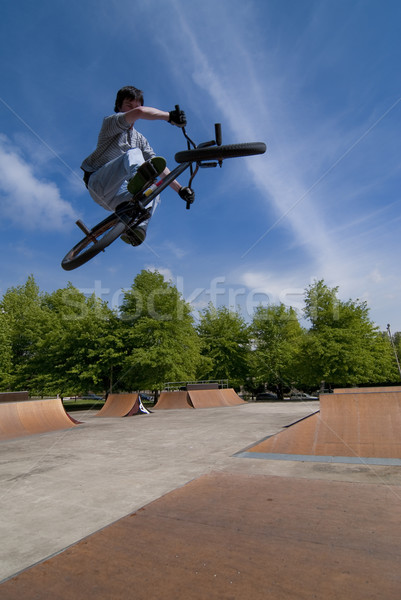 BMX Bike Stunt Table Top Stock photo © homydesign