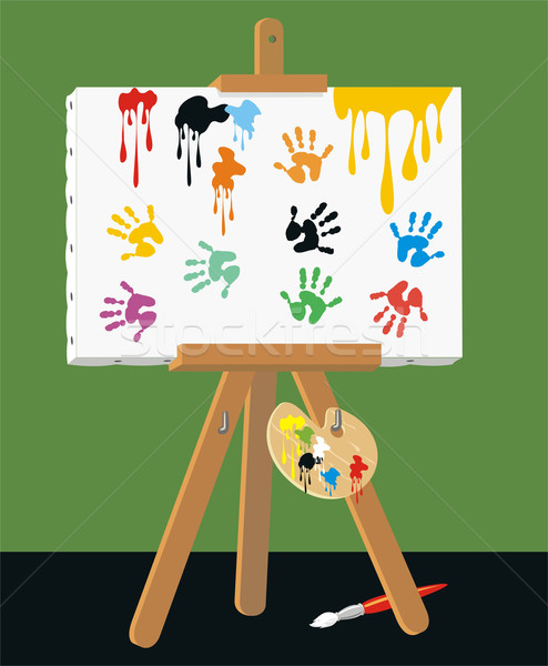 Handprints on Canvas Stock photo © HouseBrasil