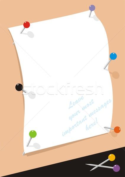 Fehér oldal kettő papír lap fix Stock fotó © HouseBrasil