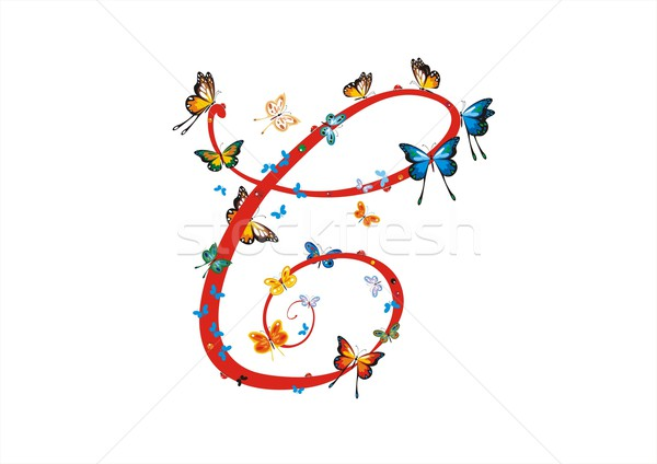 Letter C with Butterflies Stock photo © HouseBrasil