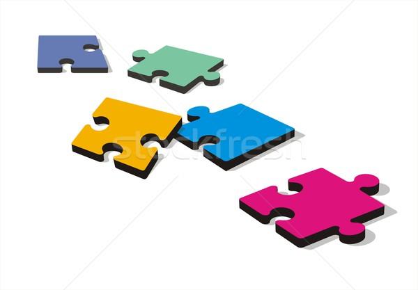 Kirakó darabok föld színes fehér puzzle játék Stock fotó © HouseBrasil