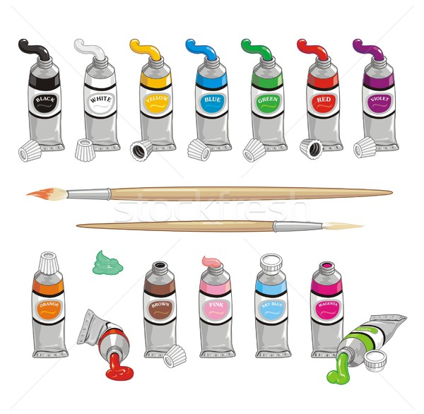 Stock photo: Color Paint Tubes Collection