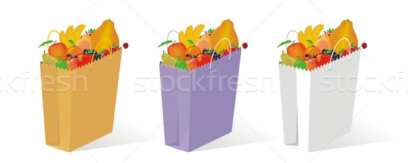 Bag of Fruit Stock photo © HouseBrasil