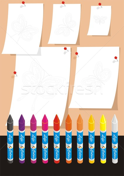 Butterflies for School Coloring One Stock photo © HouseBrasil