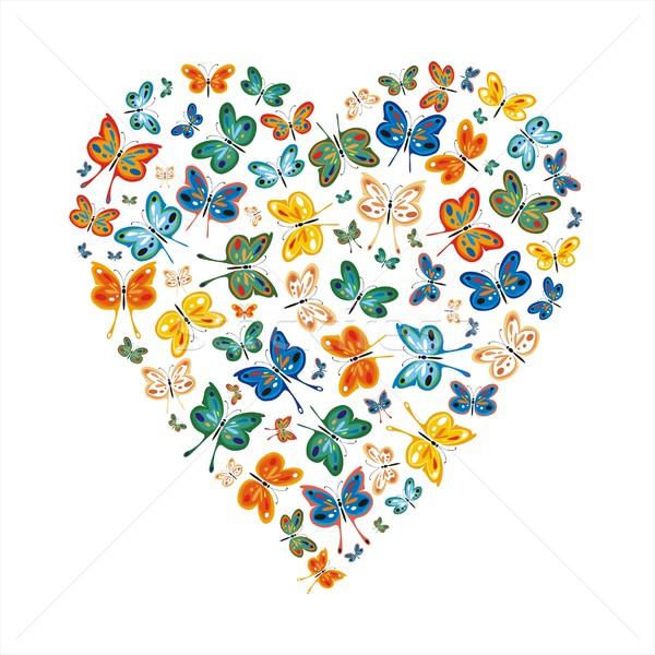 Szeretet pillangók egy nem gradiens tavasz Stock fotó © HouseBrasil
