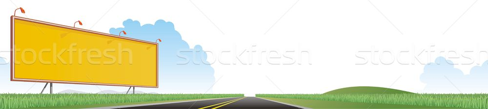 Groot weg kant van de weg billboard groene bewerkt Stockfoto © HouseBrasil