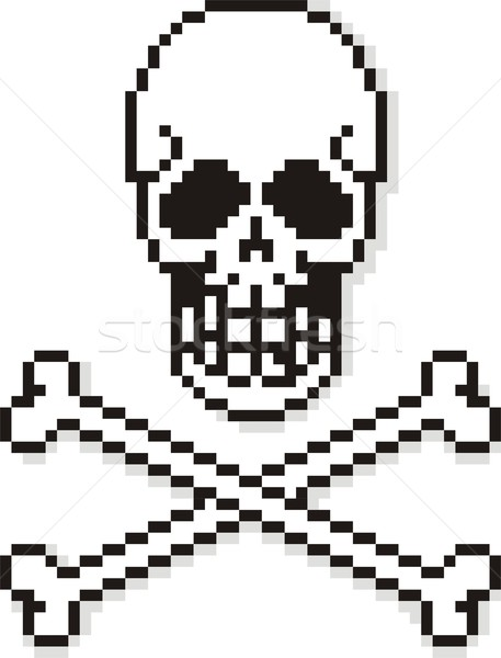Pixel Skull Stock photo © HouseBrasil