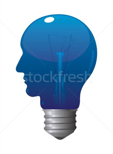 Blauw hoofd lamp af lamp Stockfoto © HouseBrasil