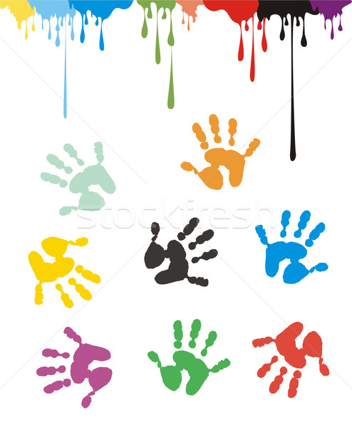 Handprints and Inkdrops Stock photo © HouseBrasil