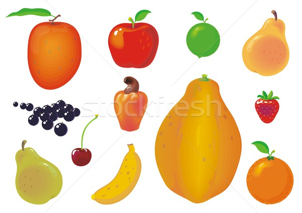 Set of Fruits Stock photo © HouseBrasil