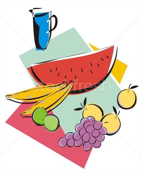 Owoce soku tropikalnych jar świeże rysunek Zdjęcia stock © HouseBrasil