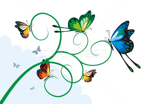 Butterflies On a Branch Stock photo © HouseBrasil