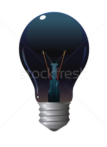 Zwarte lamp donkere gekleurd lamp geïsoleerd Stockfoto © HouseBrasil