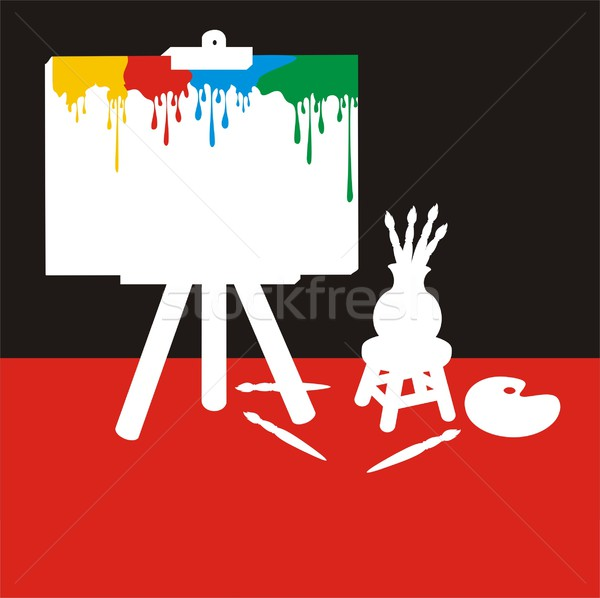 Painter Stuff Colour Silhouette Stock photo © HouseBrasil