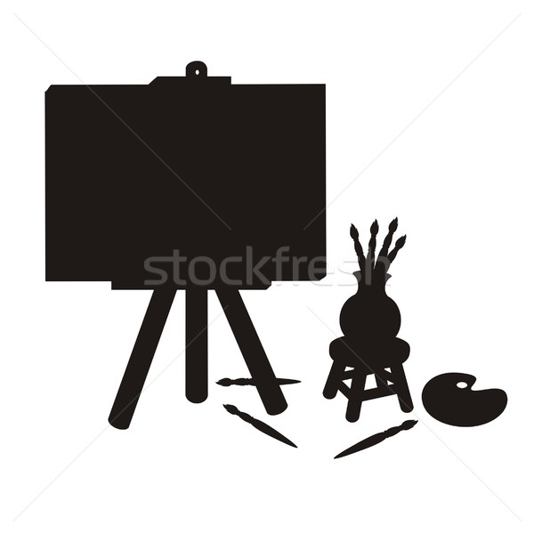 Painter Stuff Silhouette Stock photo © HouseBrasil
