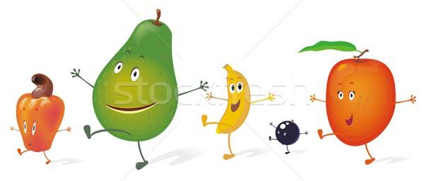 Sappig dansers vruchten groep genieten dans Stockfoto © HouseBrasil