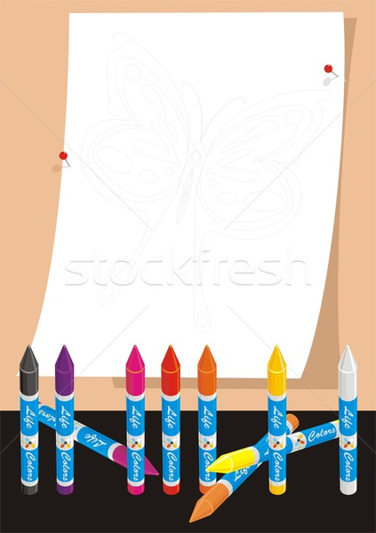 Butterfly for School Coloring Stock photo © HouseBrasil