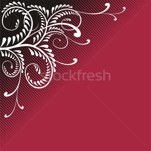 Red Wine Flamboyant Ornament Stock photo © HouseBrasil