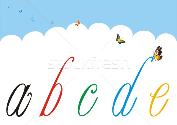 Small Letters to Adorn and Customize 1 Stock photo © HouseBrasil