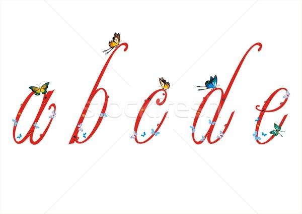 Сток-фото: небольшой · письма · бабочки · набор · см.