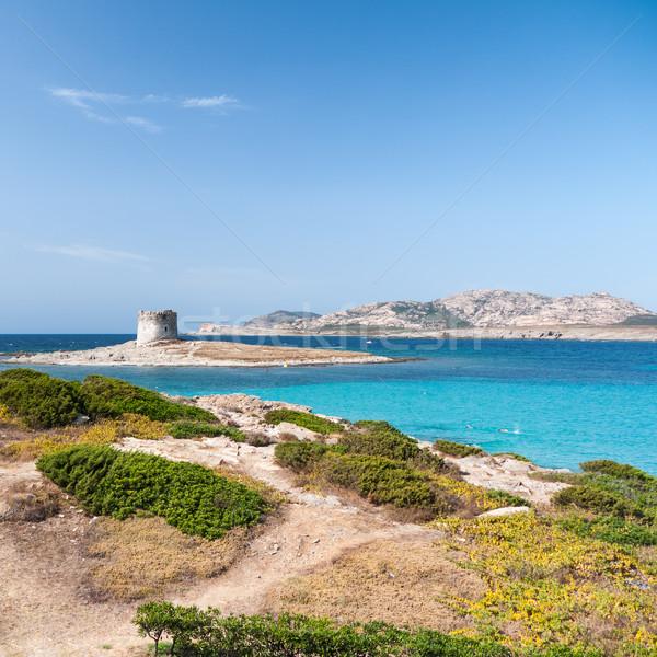 La plage italien île ciel eau Photo stock © hraska