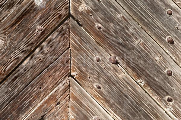 Wooden door background texture close-up Stock photo © hraska
