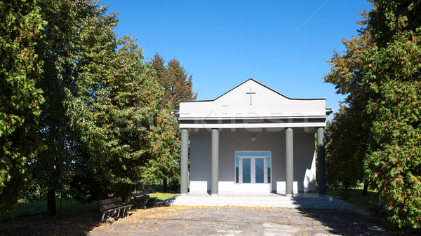 Costruzione fronte view moderno christian cimitero Foto d'archivio © hraska