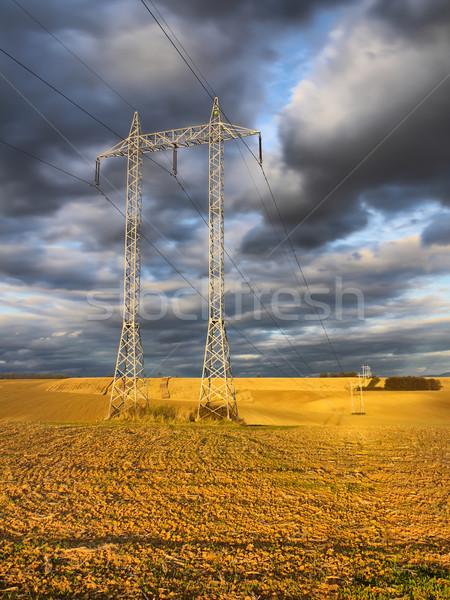 Power-transmission pole Stock photo © hraska