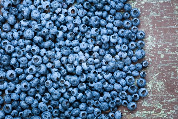 Fresh picked blueberries Stock photo © hraska