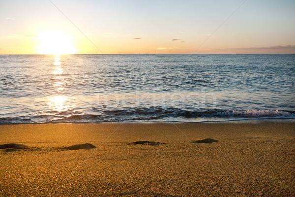 Middellandse zee zee kustlijn gouden stralen Stockfoto © hraska