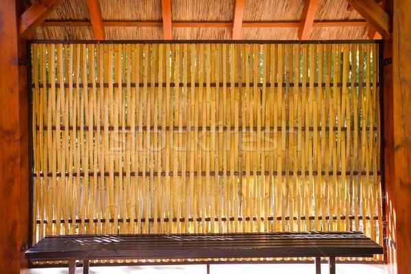 Bambu barınak oturma içinde kulübe Stok fotoğraf © hraska