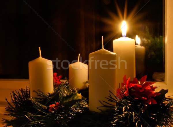 Advent candles Stock photo © hraska