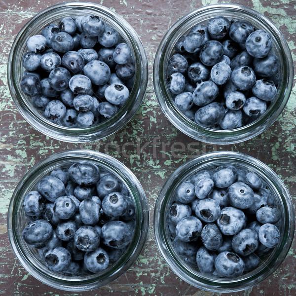 Homemade blueberries compote Stock photo © hraska