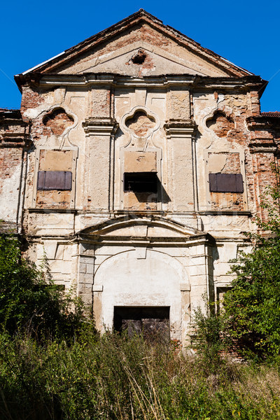 Old abandoned noble mansion Stock photo © hraska