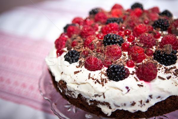 Frutta crostata fresche frutti di bosco piatto Foto d'archivio © hraska