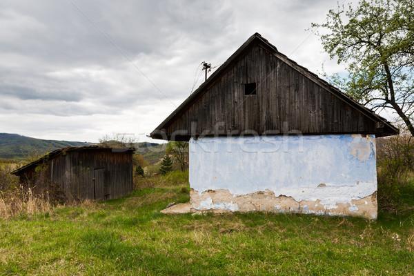 Abbandonato casa rurale Slovacchia vecchia casa legno Foto d'archivio © hraska