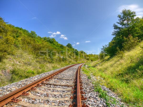 Railway line Stock photo © hraska