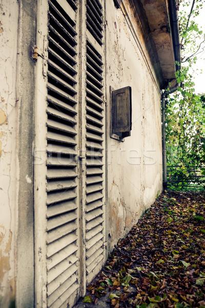 Old shutter doors Stock photo © hraska