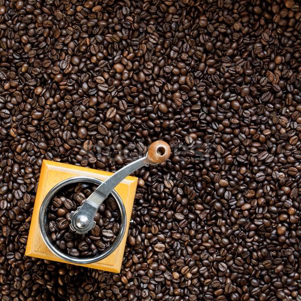 Café haut vue grains de café Photo stock © hraska