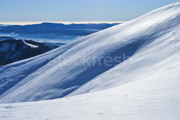 Snowy hill Stock photo © hraska
