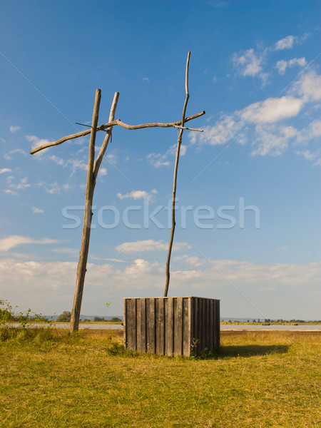 Wooden water well Stock photo © hraska