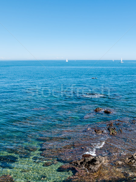 Small boats in turquoise waters  Stock photo © hraska