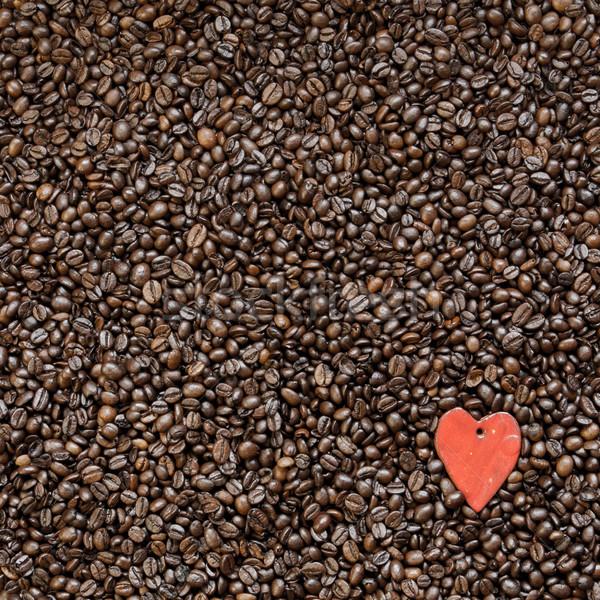 Grains de café forme coeur symbole amour Photo stock © hraska