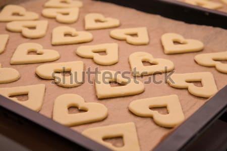 Heart shaped pie Stock photo © hraska