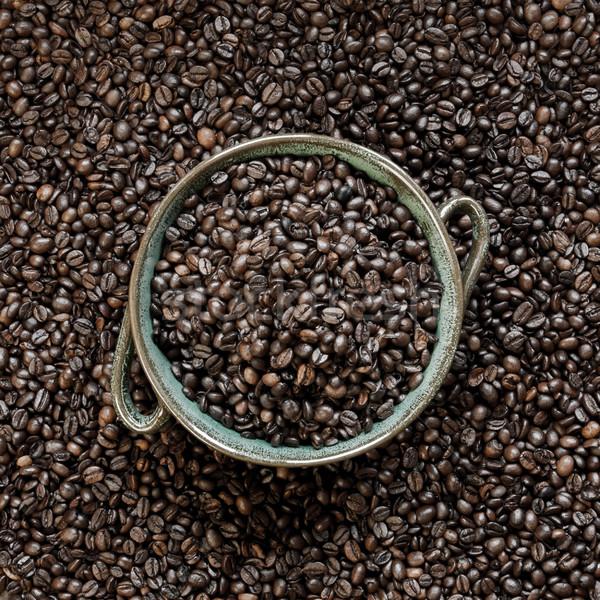 Bowl with coffee beans Stock photo © hraska