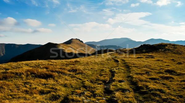 Autumn mountain range Stock photo © hraska