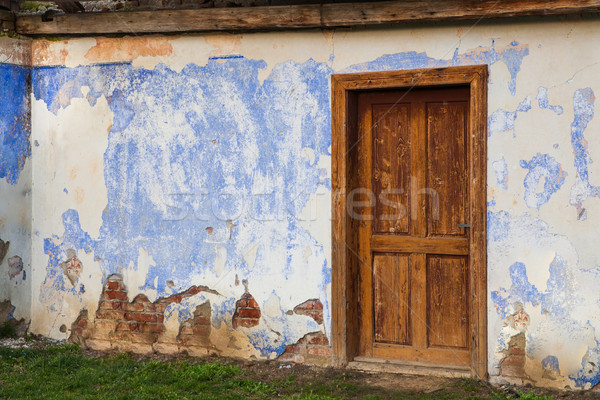 Wall with the entrance door Stock photo © hraska