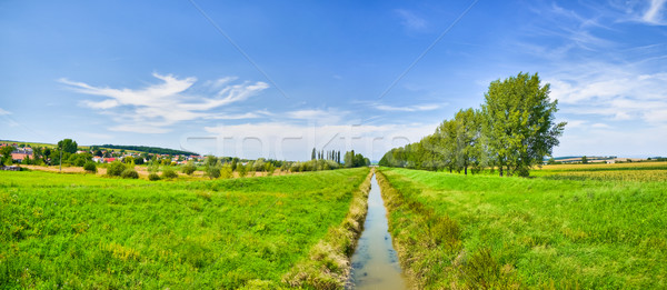 Panorama of waterway Stock photo © hraska