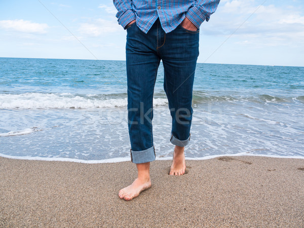 Jeans on a beach Stock photo © hraska