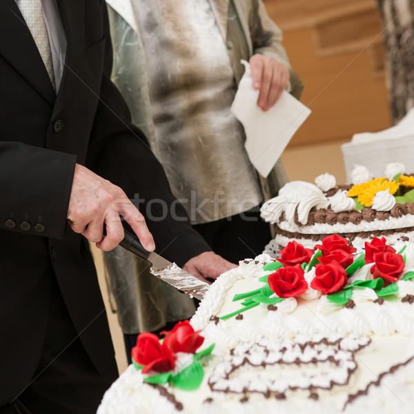 Jubilee cake cutting Stock photo © hraska